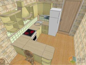 Дизайн прямоугольной кухни: оформление кухни-гостиной - интерьер, планировка, как обставить по форме