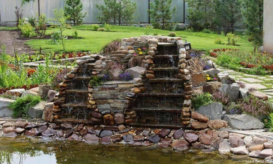 Водопад своими руками — как самостоятельно сделать на даче, пошаговая инструкция