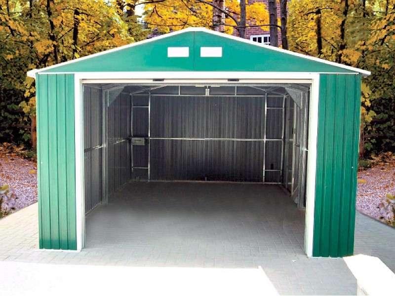 Обзор  металлического ижорского гаража: размеры, вес, инструкция по сборке