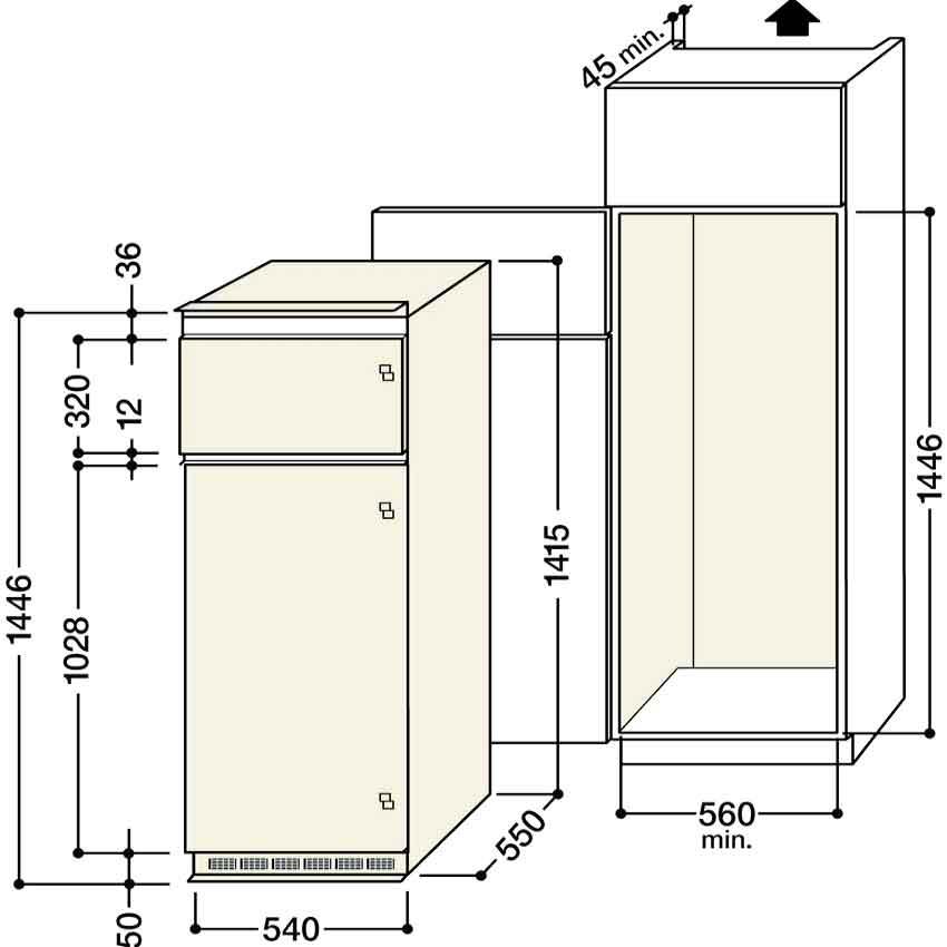 Размеры холодильников бытовых: встроенные и стандартные холоднильники » интер-ер.ру