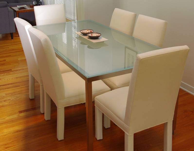 Стеклянный стол – как подобрать и расположить всегда стильный стол? фото вариантов применения