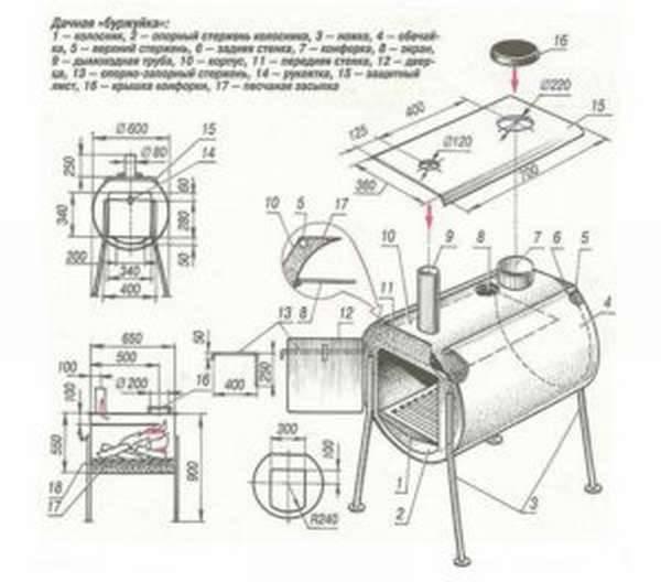 Как сделать правильный дымоход для буржуйки