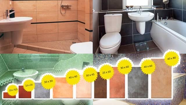 Размеры плитки для ванной — какие бывают и какой выбрать