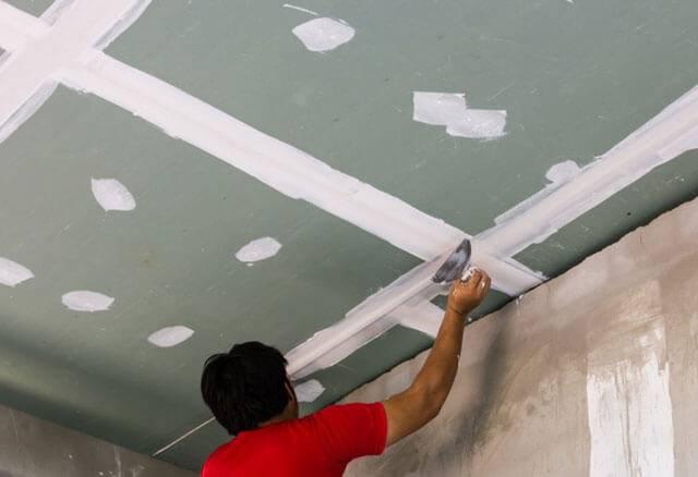 Шпаклевка потолка из гипсокартона под покраску – как все сделать правильно, инструкция