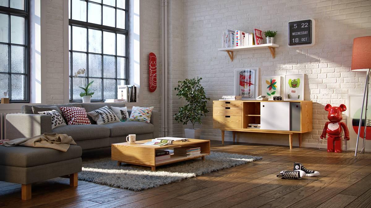 Кухня гостиная в скандинавском стиле: фото модного дизайна