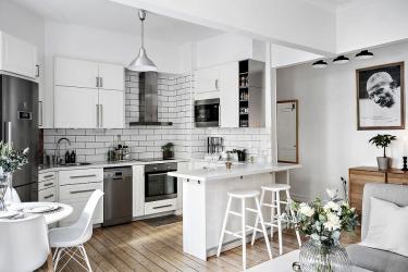 Дизайн кухни-гостиной (92 фото): интерьер, совмещенной кухни вместе с залом, современные идеи