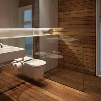 Керамогранит для ванной комнаты, фото плитки и отделка