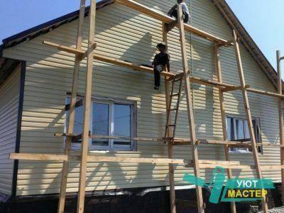 Сайдинг под бревно с имитацией блок-хауса: характеристики виниловых и акриловых панелей, монтаж (фото домов, видео)