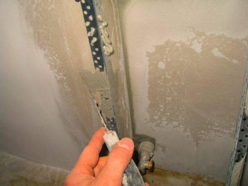 Как вывести угол стены из гипсокартона в 90 градусов