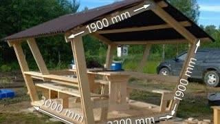 Беседка для дачи 3х4 (38 фото): постройка своими руками, чертежи и размеры, проект односкатной конструкции полукругом