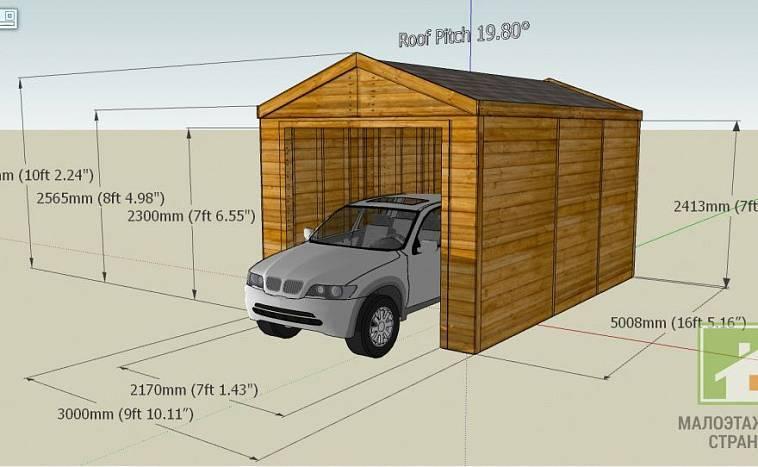 Подбираем размеры гаража: стандартные на две машины и одну, оптимальная ширина и высота