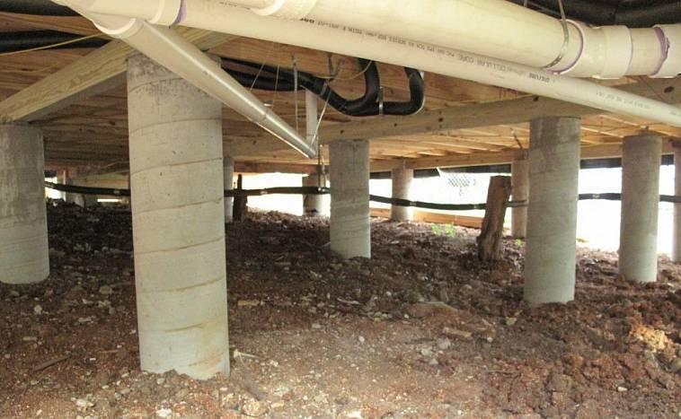 Фундамент из асбестовых труб – строим сами в короткие сроки