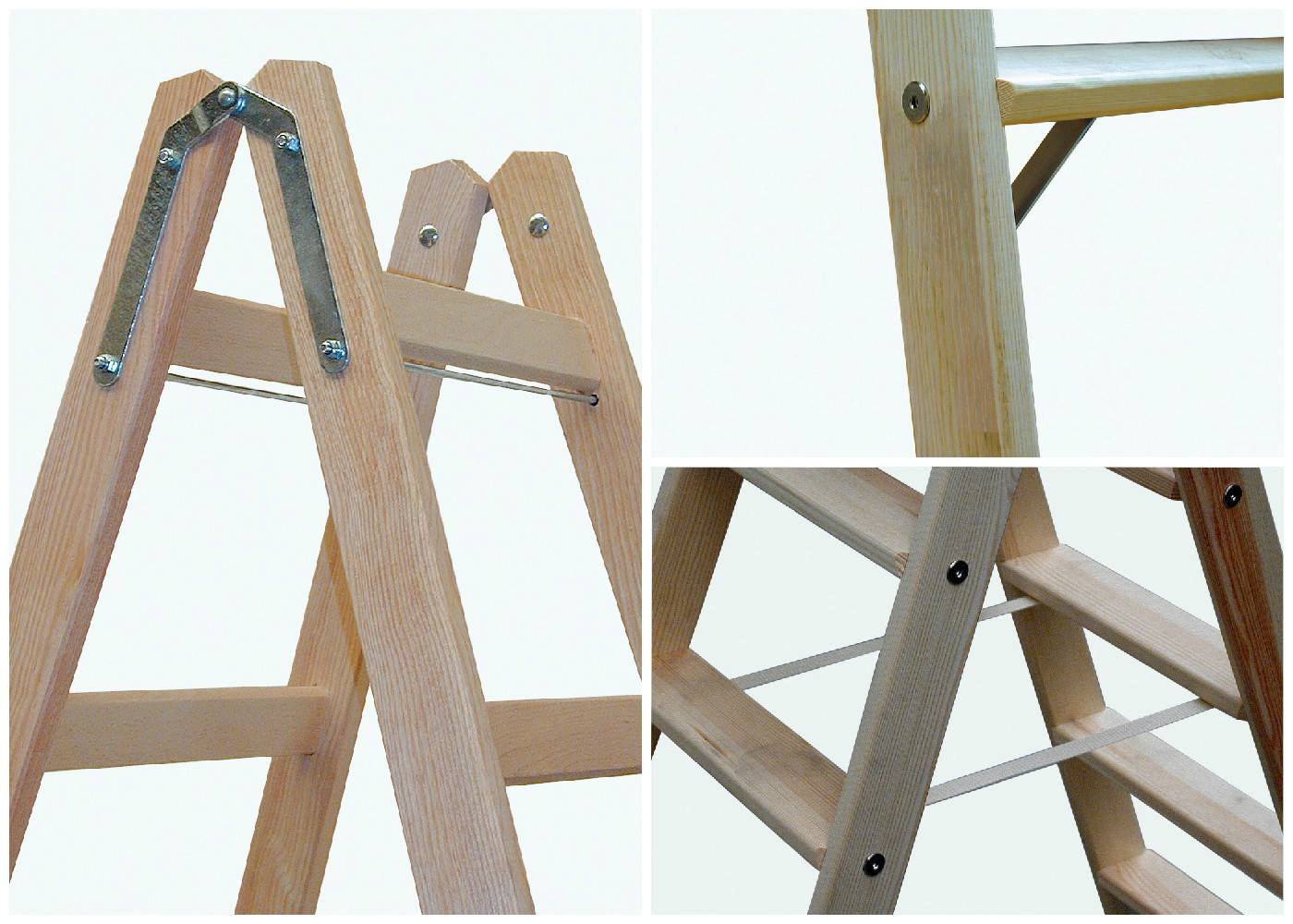 Изготовление деревянной лестницы-стремянки своими руками