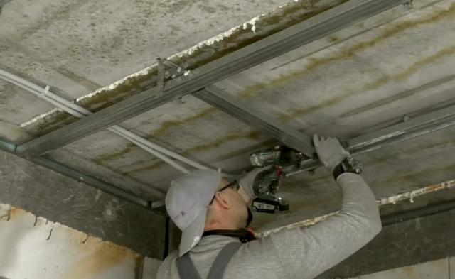 Подвесной потолок армстронг - монтаж своими руками