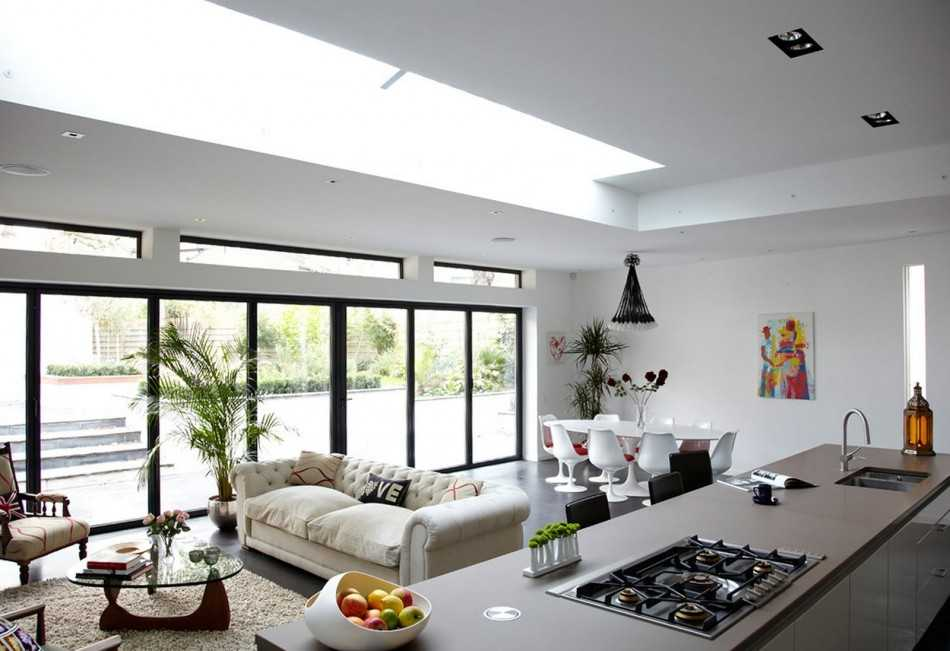 Дизайн кухни-гостиной 20 кв.м. - 70 фото интерьеров, красивые идеи ремонта и отделки