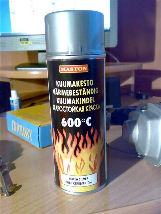 Термостойкая краска по металлу. особенности огнеупорной краски