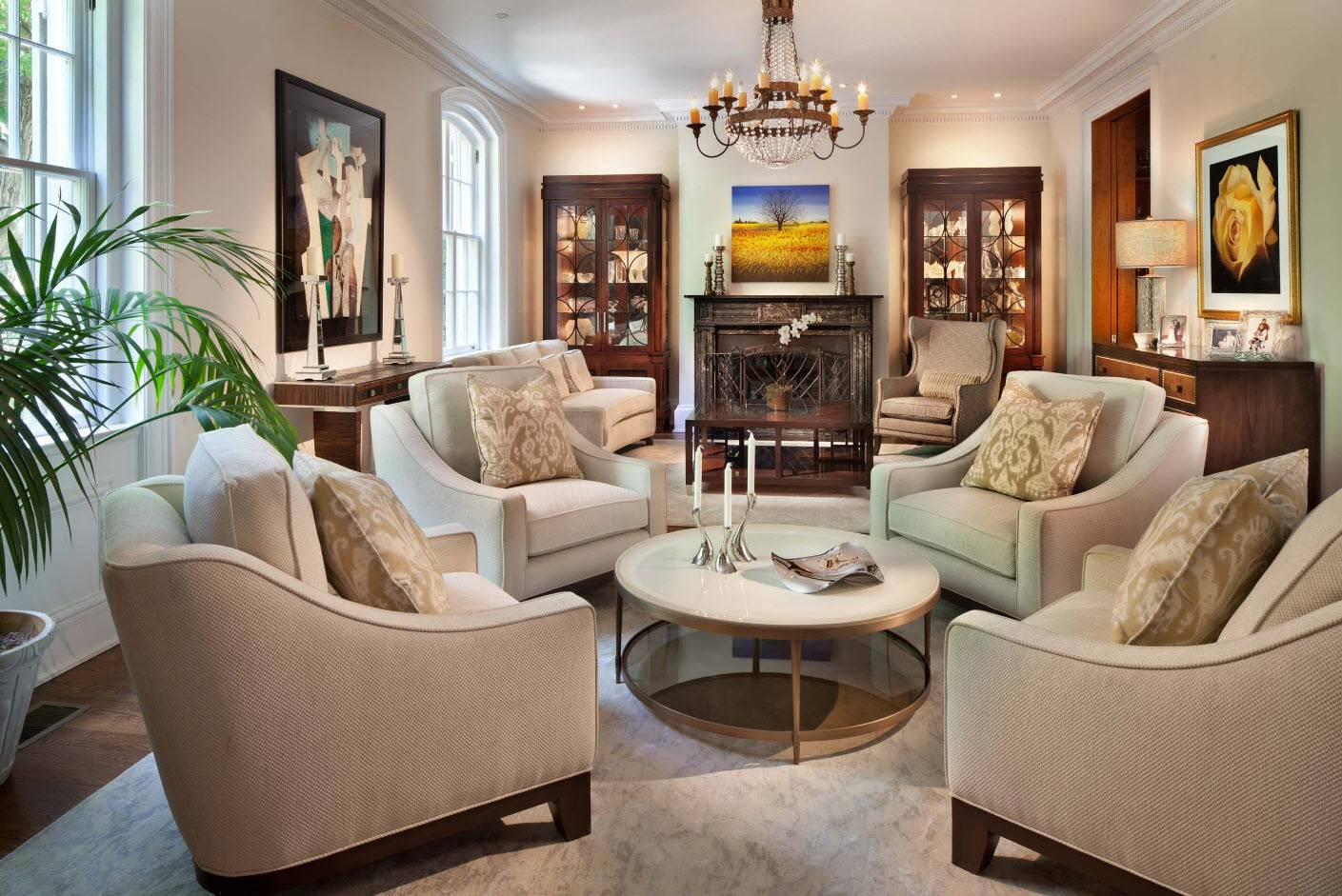 Кресло в гостиную - виды моделей | как выбрать?