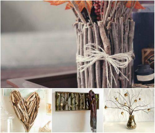 Поделки из веток: мастер-класс создания оригинальных оформлений интерьера природными материалами (100 фото)