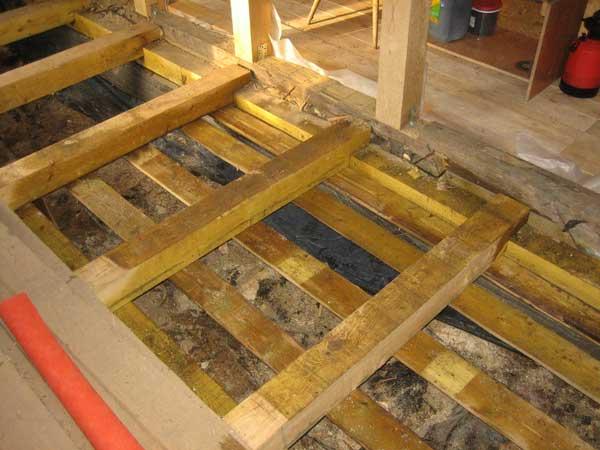 Утепление пола в деревянном доме снизу — выполнение работ своими руками
