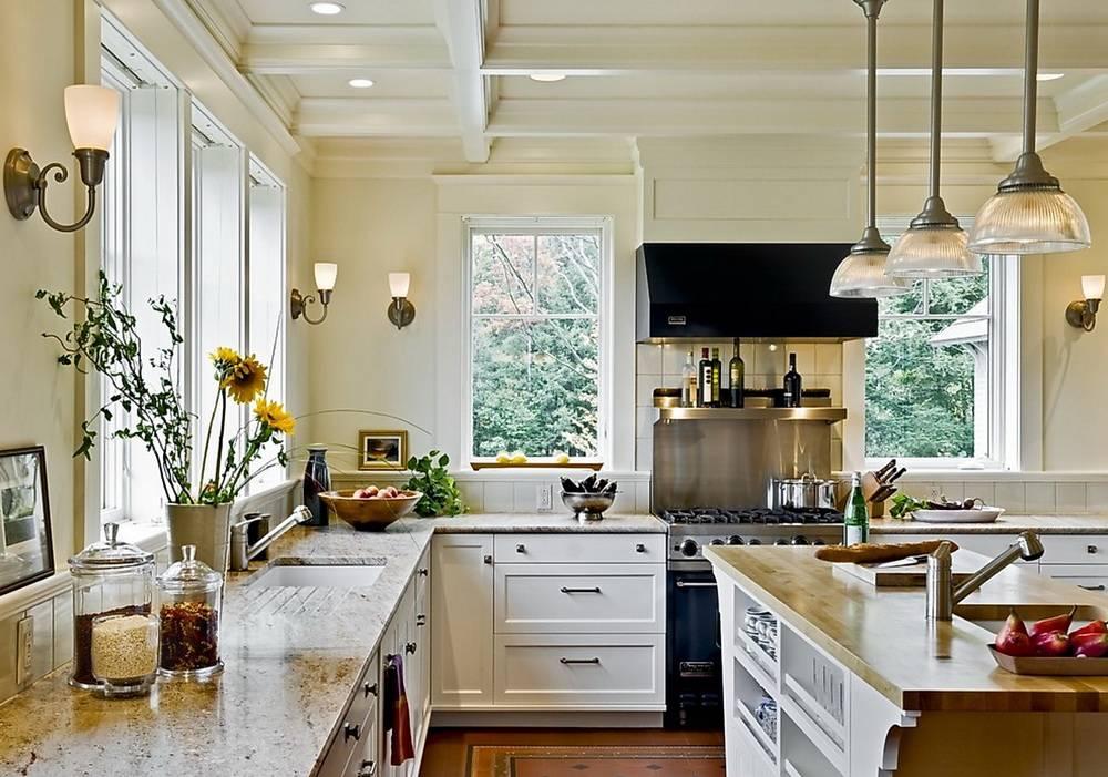 Кухни без верхних шкафов – фото дизайна реальных кухонь без навесных шкафчиков