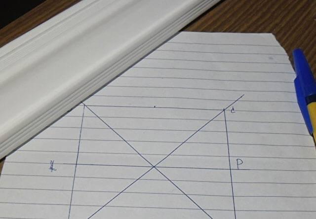 Как сделать внешний угол потолочного плинтуса?