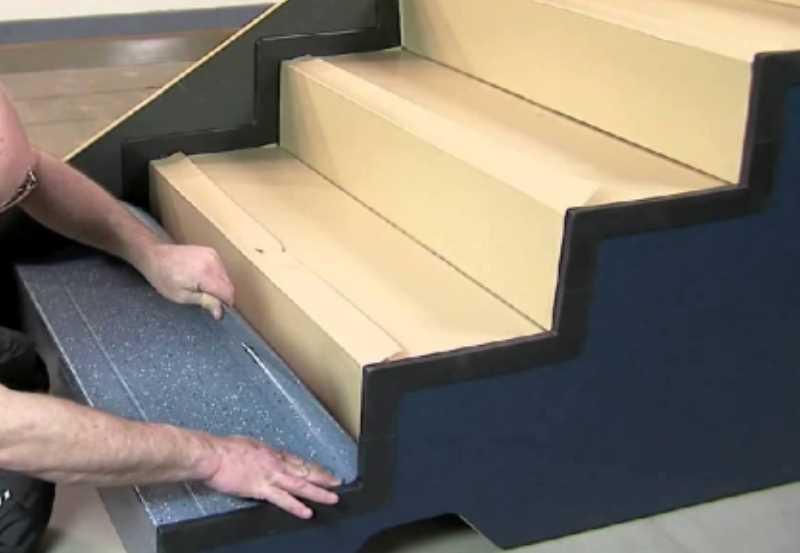Отделка бетонной лестницы ламинатом своими руками