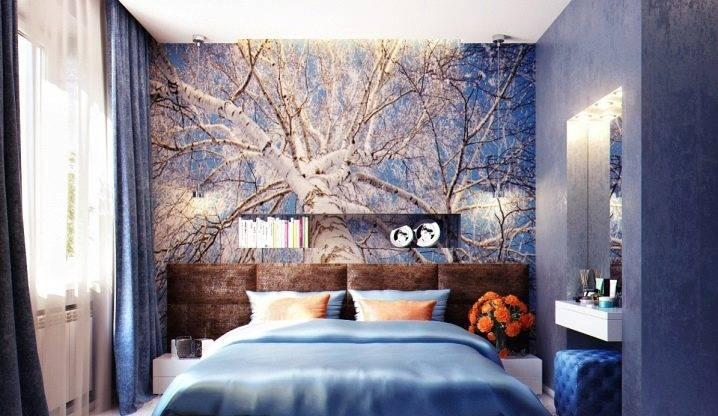 Комбинирование обоев в спальню: 260+(фото) красивых интерьеров