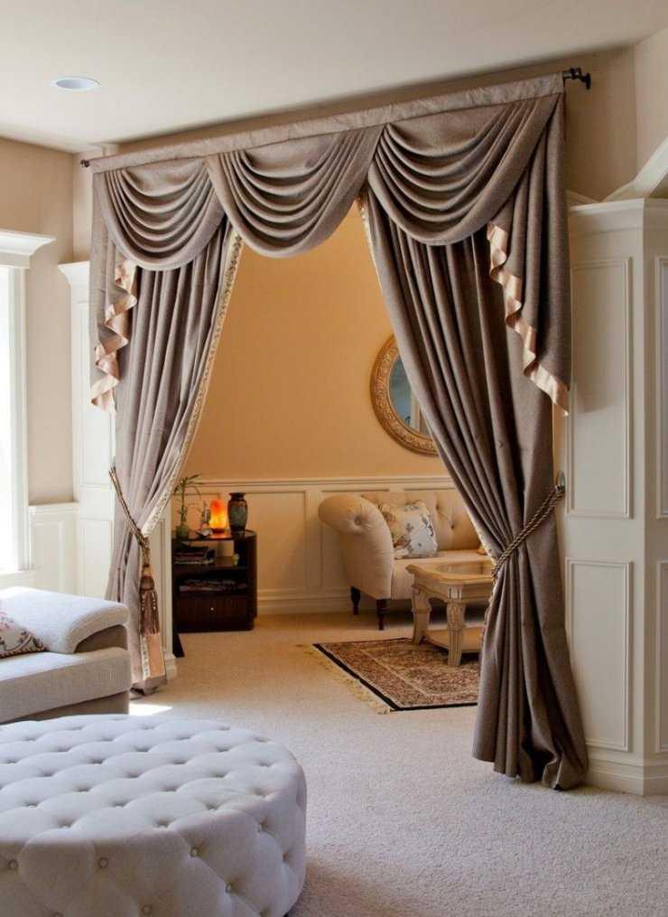 Шторы в зал: занавески в современном стиле, красивый дизайн портьер, модели гардин в большую комнату  - 44 фото