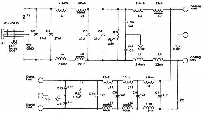 Сетевые фильтры - как они работают, примеры схем