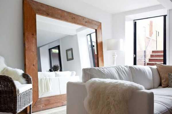 Идеи оформления интерьера большими зеркалами