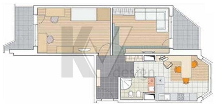 Однокомнатная квартира серии п44т: планировка и дизайн в стиле лофт