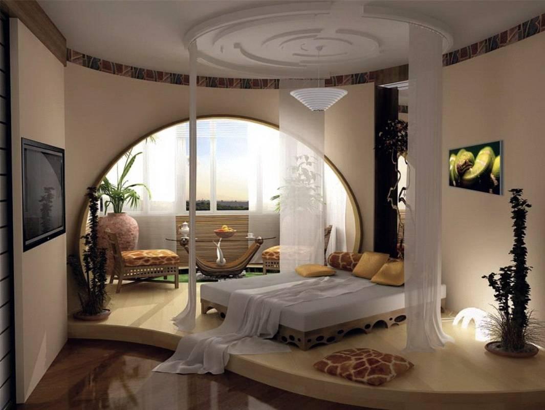 Дизайн спальни с балконом (119 фото): совмещенная спальня 13-14, 16 кв. м в квартире с окном, объединенная с лоджией