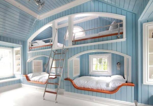 Детские комнаты с двухъярусной кроватью (26 фото) | дом мечты