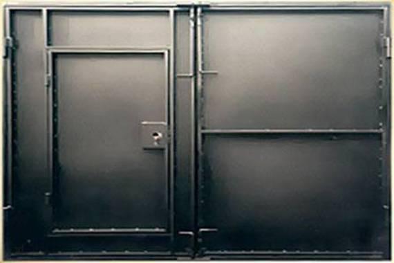 Как сварить и покрасить металлические ворота для гаража? чертежи и фото