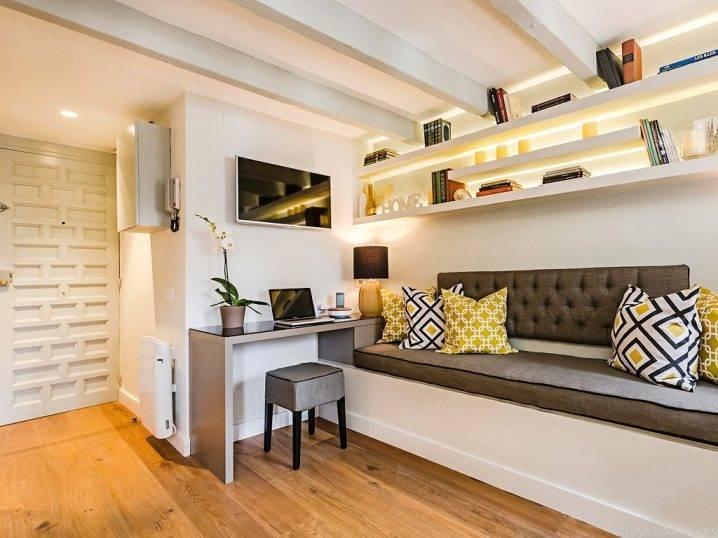 Однокомнатная квартира 35 кв. м: 75 фото лучших интерьерных идей