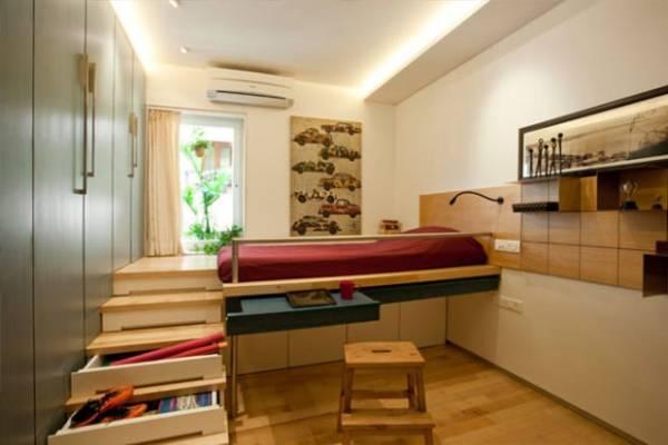 Подиум в квартире - 55 фото примеров интерьера