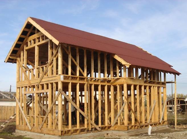 Конструкция каркасного дома + узлы