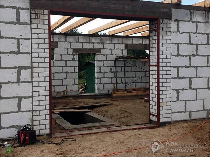 Проект и строительство гаража из газобетона своими руками, расчет материалов