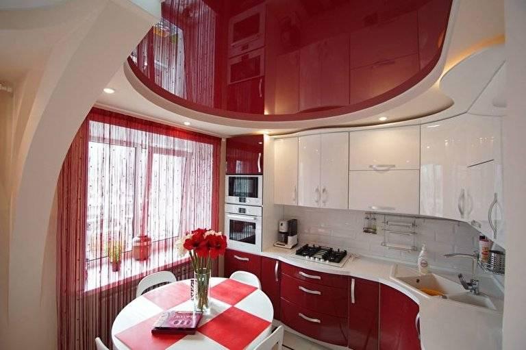 Натяжной потолок на кухне: 100+ фото лучших идей и вариантов дизайна