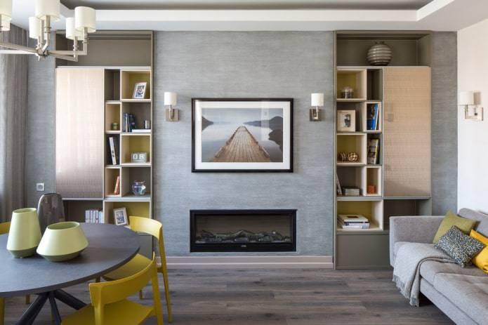 Шкаф в гостиную: 110 фото оригинальных идей внедрения шкафа в интерьер