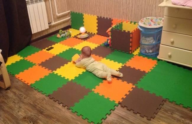 Мягкий пол для детских комнат: в большие плитки, для 60x60, для отзывы, для см, теплый