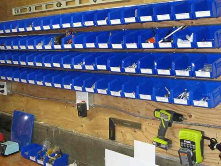 Системы хранения для гаража и разделение площади на 6 зон