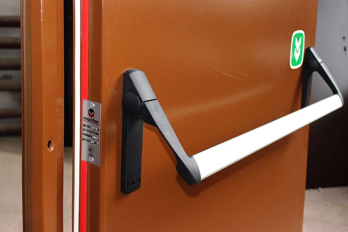 Типы противопожарных дверей, их маркировка и монтаж