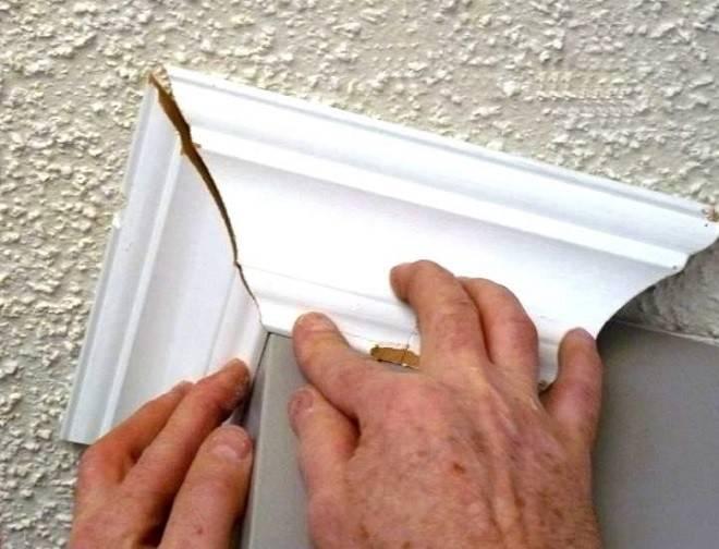 Как стыковать углы потолочного плинтуса - особенности обустройства внутренних и внешних углов, смотрите на фото и видео