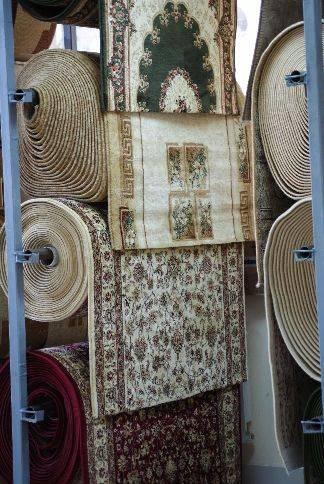 Бельгийские ковровые дорожки: однотонный отрез из вискозы и синтетики из бельгии
