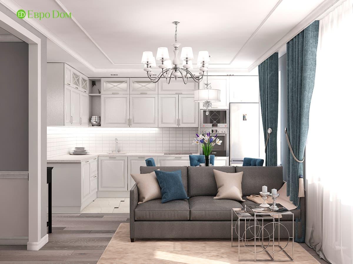 Секреты правильной организации пространства: идеи дизайна, фото однокомнатной квартиры 40 кв. м в современном стиле