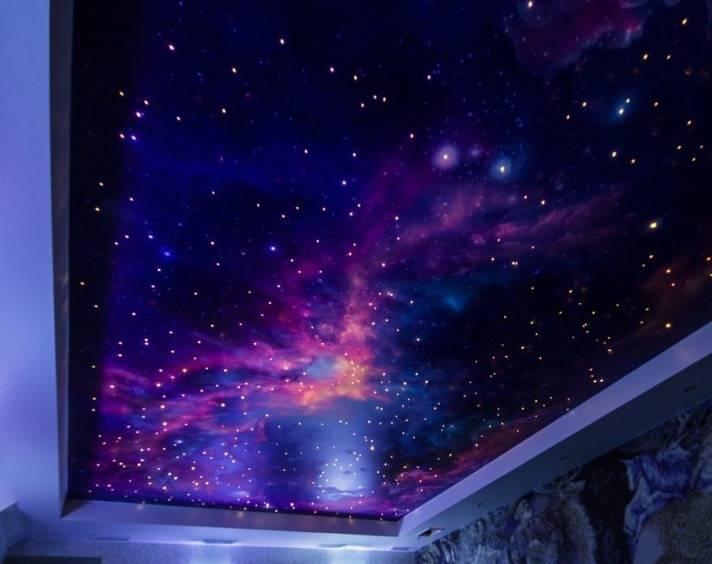 Как сделать звездное небо на потолке