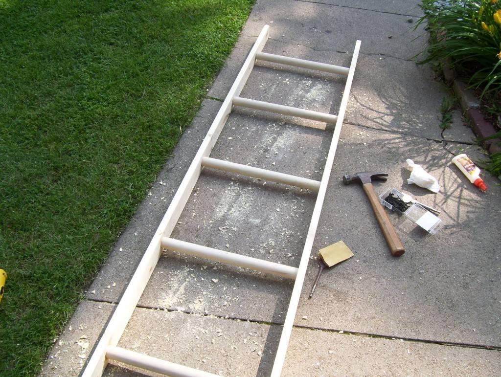 Надежная деревянная приставная лестница своими руками: чертежи