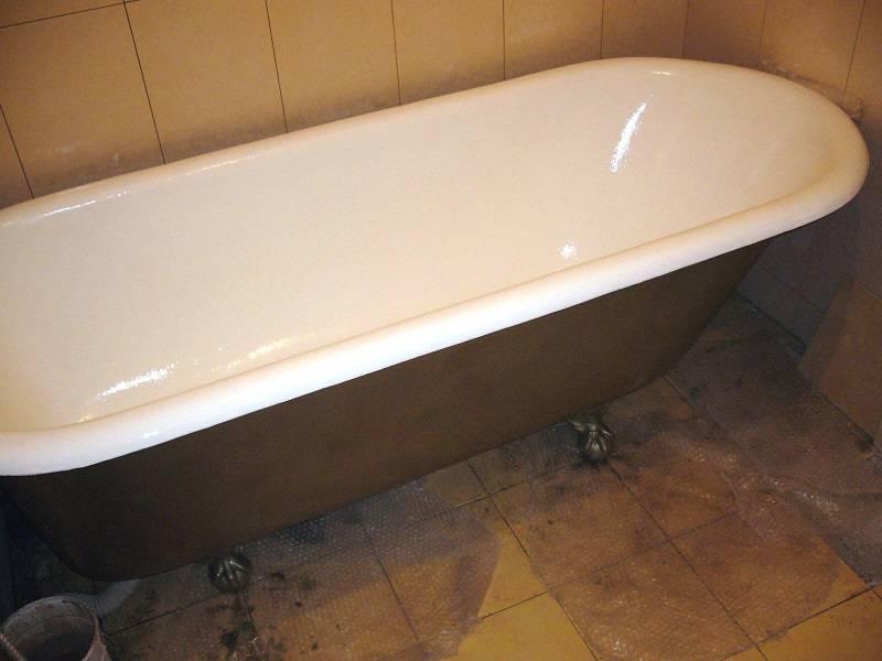 Чем покрасить ванну внутри