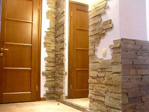 Декоративный камень в интерьере: варианты отделки, цвета, дизайн, виды имитации, сочетания